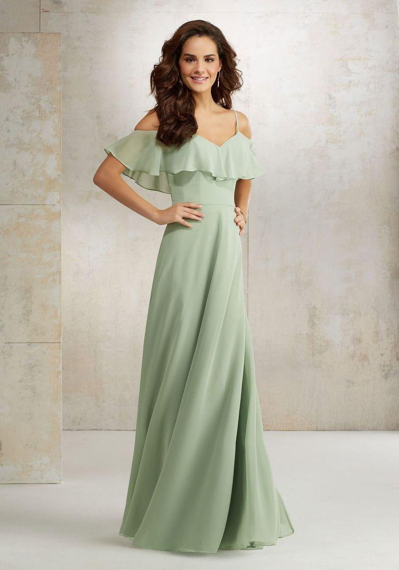платье для беременной с воланами