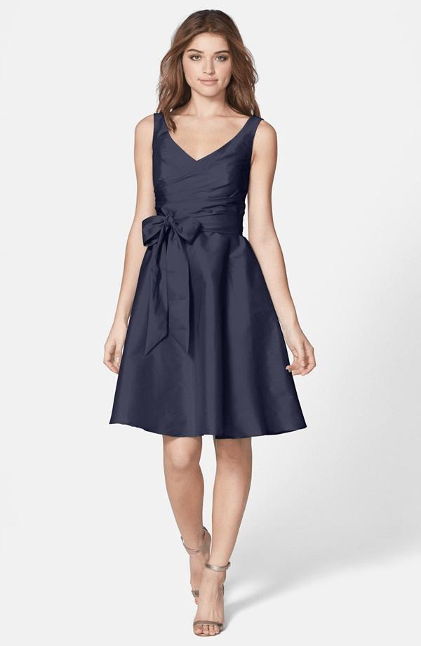 Коктейльное платье из тафты