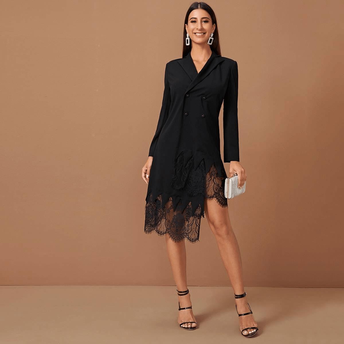 Кружевное платье-пиджак