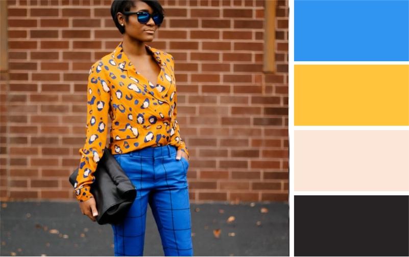 С какой одеждой сочетаются синие брюки: с чем носить, как подобрать верх